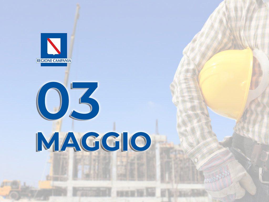 Imprese Di Costruzioni Campania coronavirus, in campania i cantieri edili riapriranno il 3