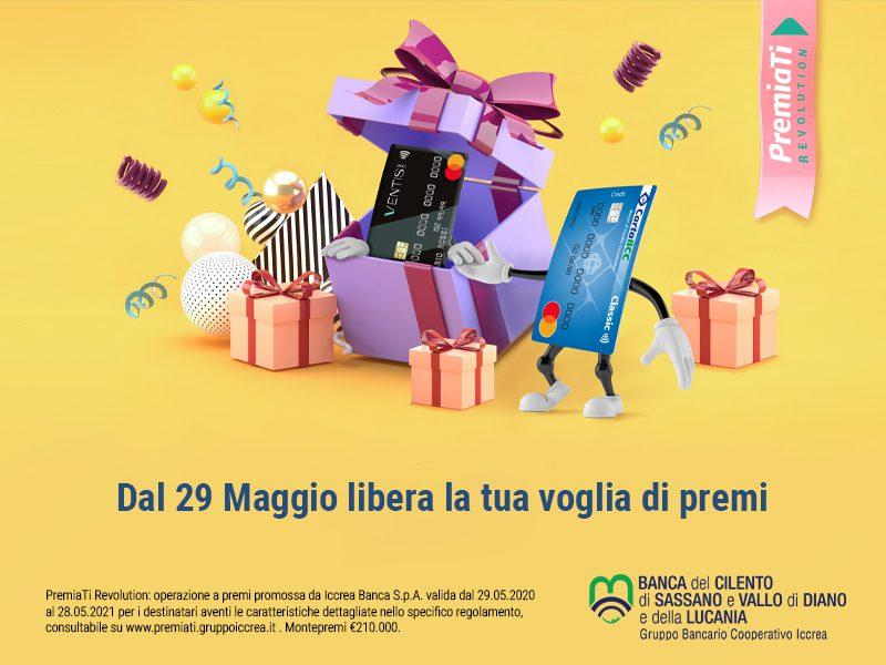 """Al via """"PremiaTi Revolution"""" per i titolari di carta di credito Carta Bcc e Ventis card"""