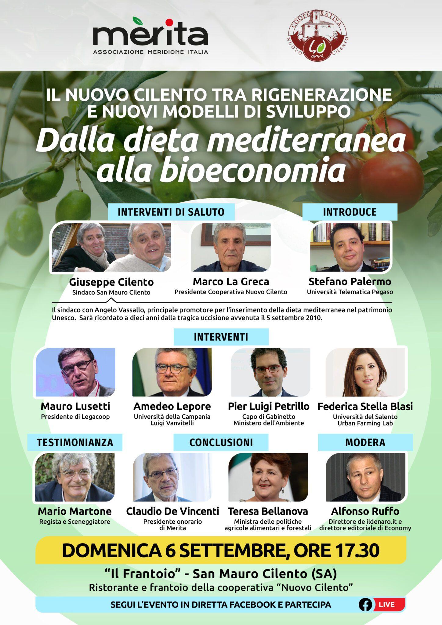 Dalla dieta mediterranea alla bioeconomia, il ministro Bellanova a San Mauro Cilento