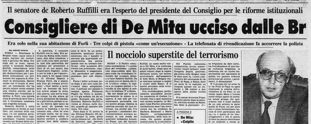 Trentatré anni fa l'assassinio del professore Ruffili
