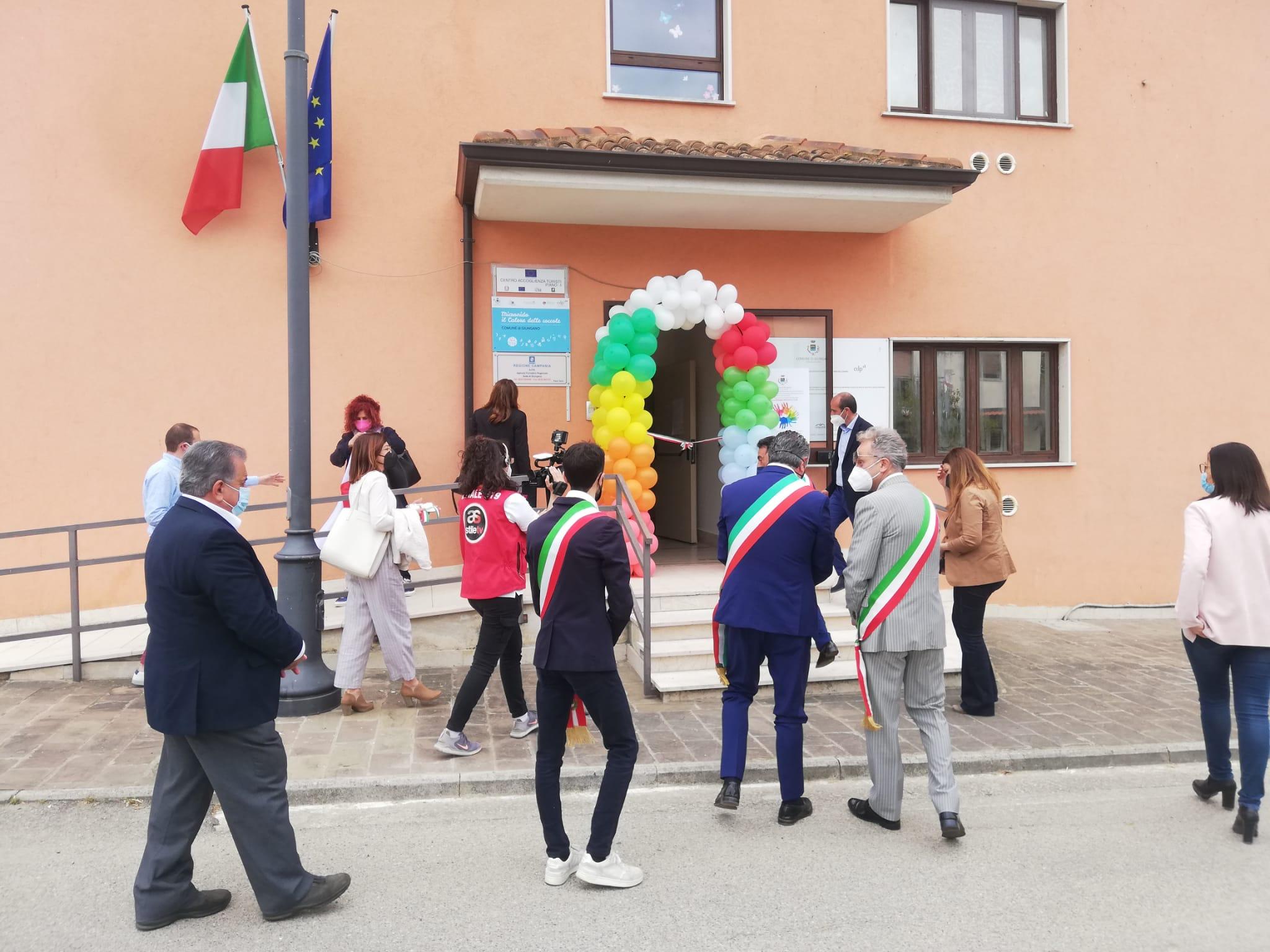 Inaugurato l'asilo nido di Giungano, con Orlotti anche Alfieri e Iuliano