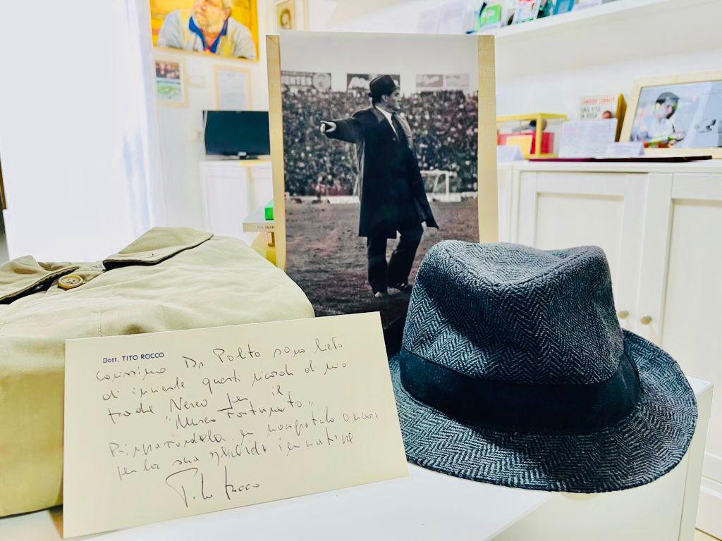 Nereo Rocco, il suo cappello al Museo Fortunato di Castellabate